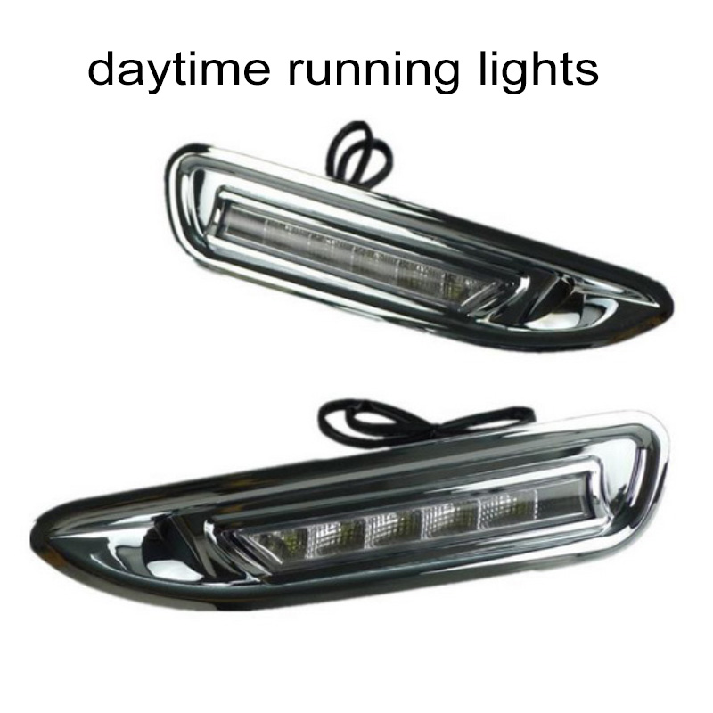 accessory auto fog lamps Car styling daytiime running lights for M/azda 6 2009-2013  DRL Waterproof 1 pair car accessory for m azda 6 2004 2010 car styling daytime running lights