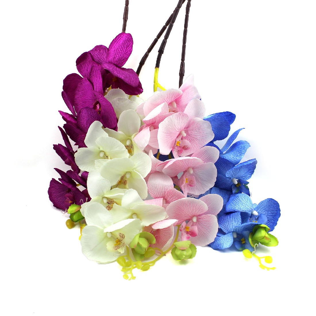 Online buy wholesale silk orchid arrangements from china silk beautiful 8pcs artificial fake flower butterfly orchid silk flower home wedding party decor phalaenopsis flower arrangement dhlflorist Gallery
