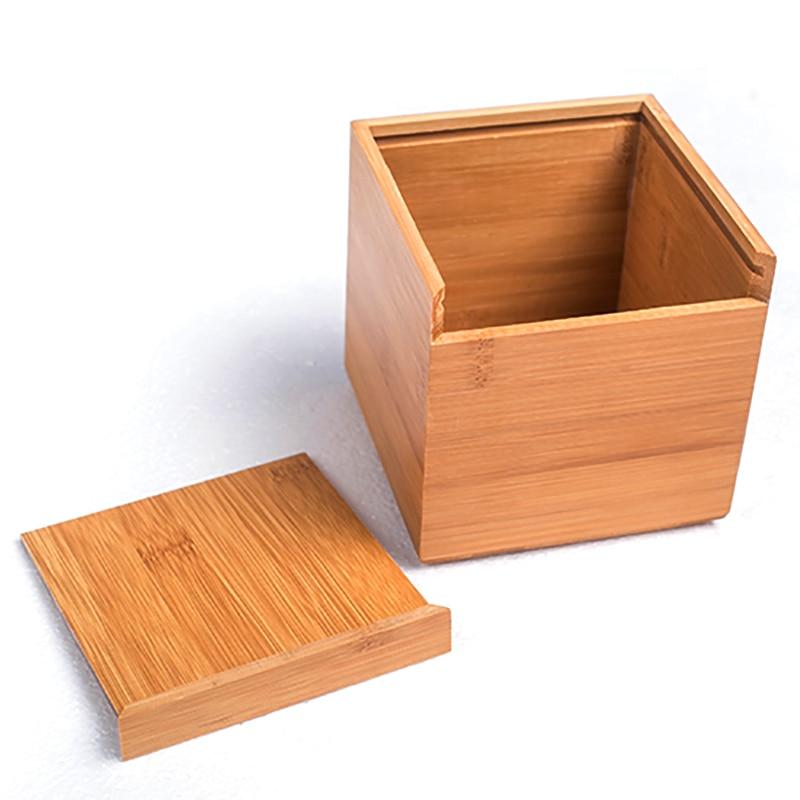 Gaya Moden Buluh Square Tisu Kotak Kreatif Jenis Seat Roll Paper Tisu - Organisasi dan penyimpanan di dalam rumah - Foto 3