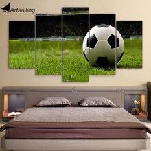Wall Art Холст Картина 5 шт. HD печати Футбол курс спортивные плакаты и отпечатки оформлена модульная холсте Home Decor CU-2181C