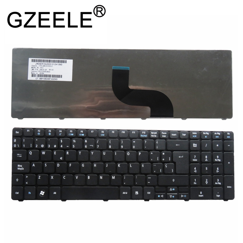 GZEELE Spanish SP Teclado Keyboard For Acer Aspire E1-571 E1-531 E1-521 E1-571G E1-531G Black