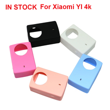 5pcs Protective Silicone Case+Lens Cover Cap For Xiaomi Yi 2 II 4K Action Camera Silicone Case For Xiaomi YI 4K Accessories