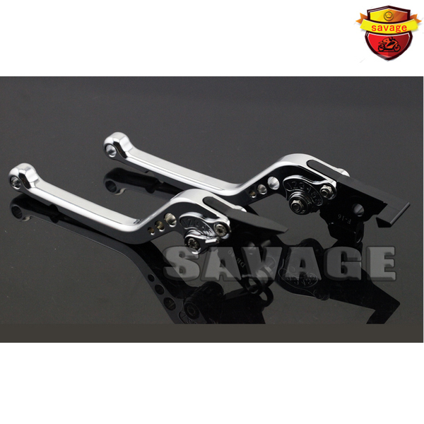 For Moto Guzzi Breva V1100 Griso 1100 / 1200 8V Motorcycle CNC Aluminum Long Brake Clutch Levers Silver adjustable cnc aluminum clutch brake levers with regulators for moto guzzi breva 1100 2006 2012 1200 sport 07 08 09 10 11 12 13