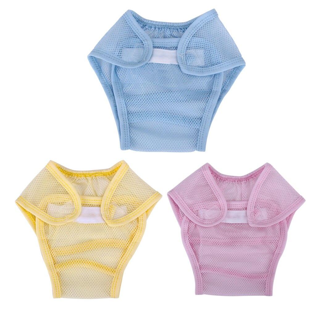 Bébé été printemps couches maille respirant pantalon trois couleurs disponibles lavable réutilisable couches accessoires de soins pour bébés
