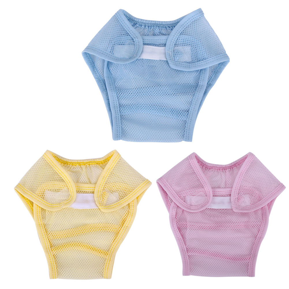 Baby Summer Spring Nappies Mesh Breathable Pants Three Colors Available Washable Reuseable Diaper Infant Care Accessories