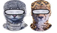 Новинка Leopard Cat Животных Спортивная Рыбалка Мотоциклов Велоспорт Полный Маска 3D Cap Гуд Лыжный Балаклава УФ Дышащий Влагу Ветра Шляпу