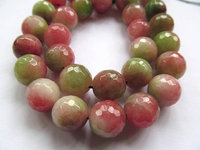 bulk 10mm 5strands agate bead round ball faceted pink green watermelon assortment jewelry loose beads