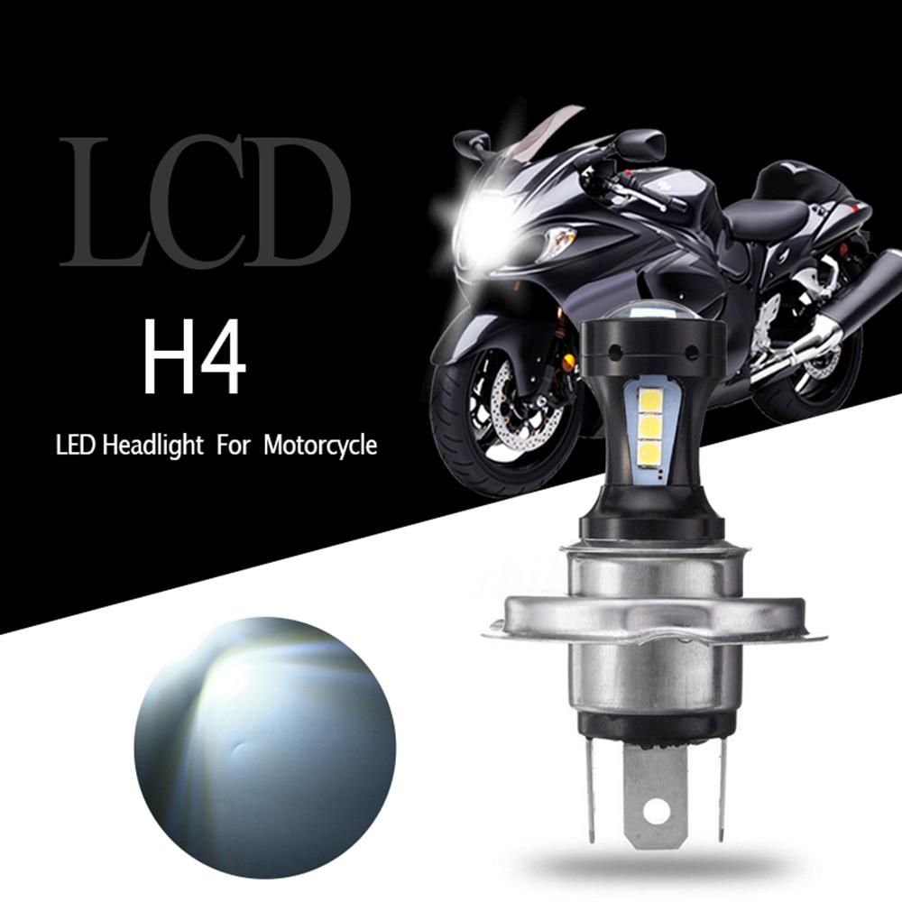 Headlight 6500K 12V White 18W H4 Motorcycle Motorbike 18SMD 3030 Hi-Lo