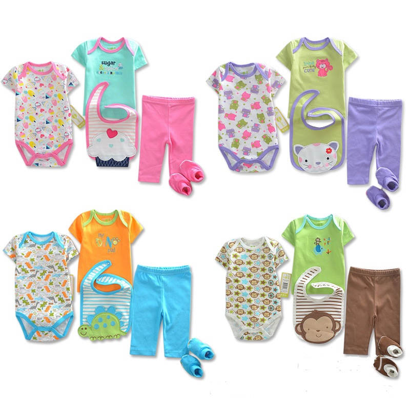 2017 Brand New Newborn Clothes Sets Bodysuits Pants T-shirts Shoe Socks Bibs Babe jumpsuits outfit suits tops towels pp pant easy guide to sewing tops and t shirts skirts and pants