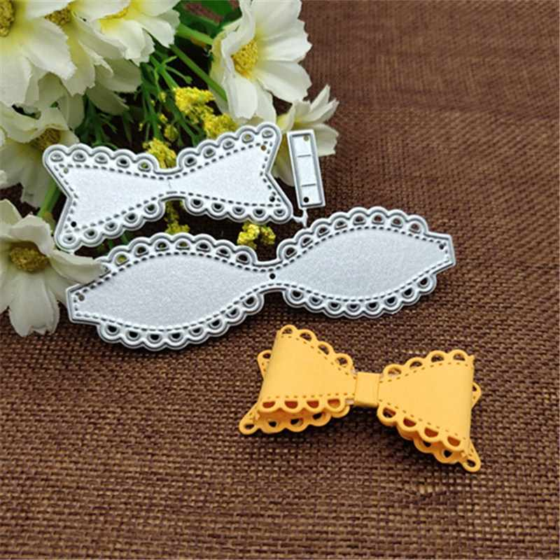 heart border Lace bow Metal Cutting Dies for DIY Scrapbooking Album Paper Cards Decorative Crafts Embossing Die Cuts