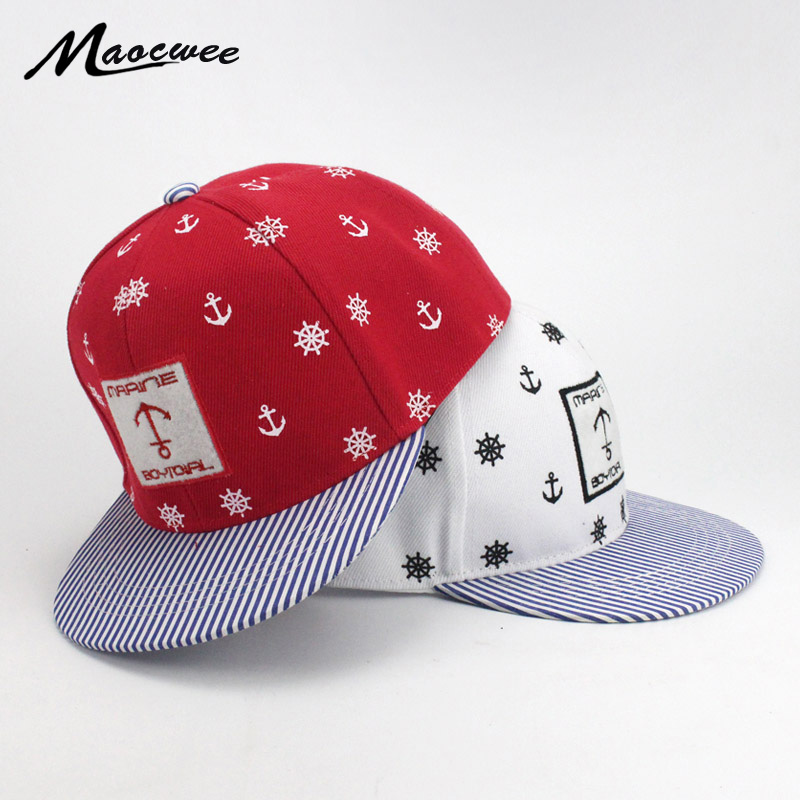 Baseball cap kids anchor embroidery hip hop Children hat cap for girl boy Snapback hats Baby Cute Hat Adjustable Summer Bone New wholesale women men fashion snapback cap hat new design custom novelty sport baseball cap girl boy hip hop camouflage visor hats