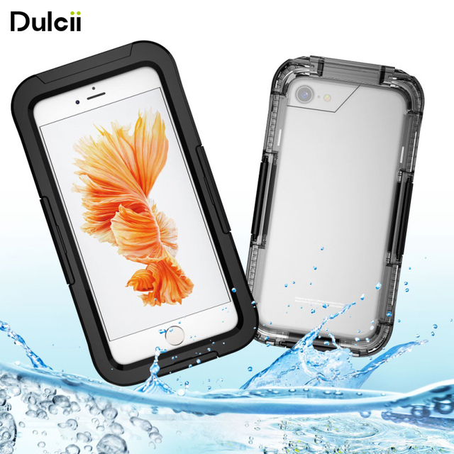 Dulcii Phone Pouch Bag For iPhone 7 7 Plus Underwater Waterproof Case Dirt Dust Snow Proof Cover Coque For iPhone 7 Plus Fundas