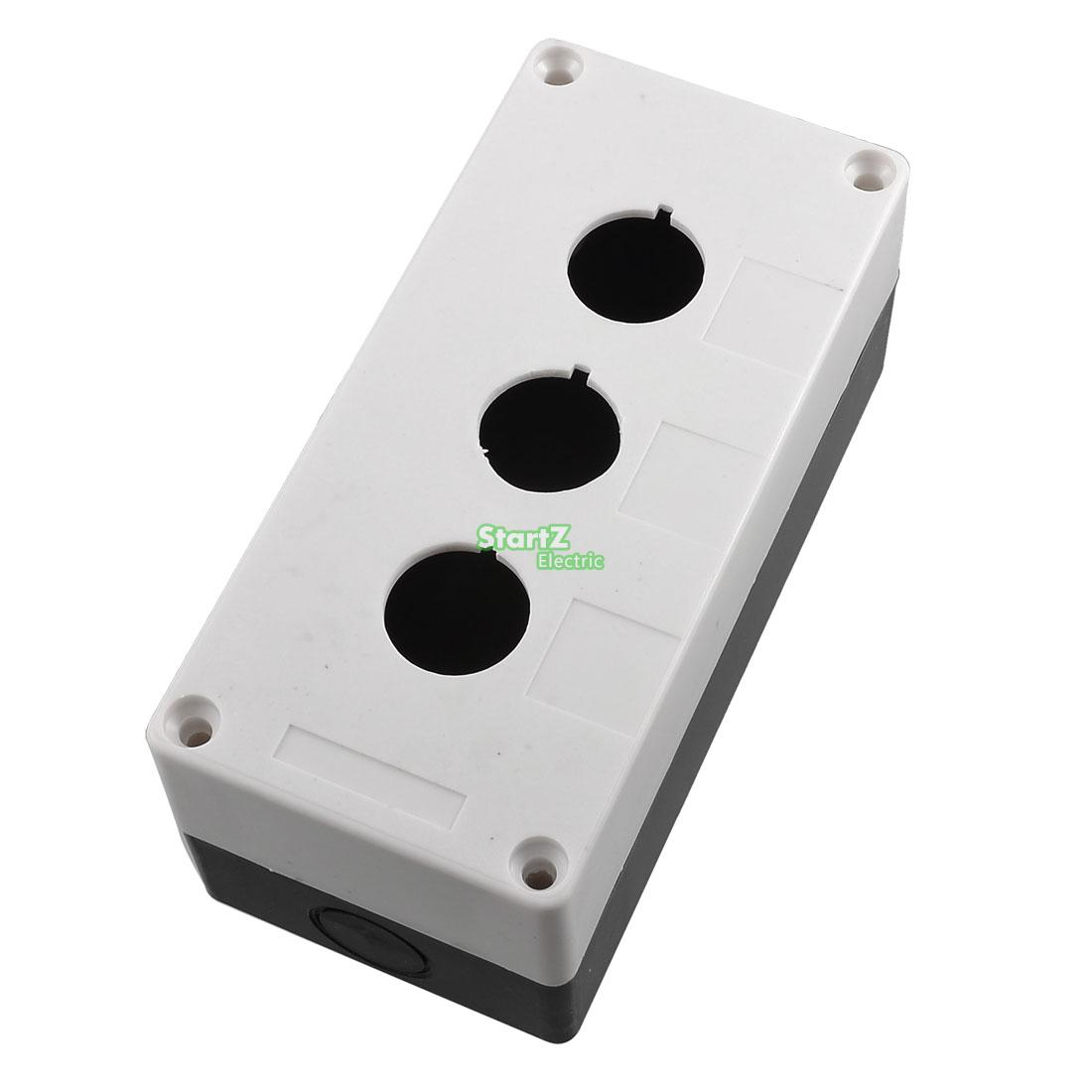 Plastic 3 Switch 22mm Push Button Control Station Case Box