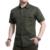 Big Size M-5XL Boa Qualidade 2017 Verão militar dos homens marca casuais exército verde camisa curta homem afs jeep 100% camisas de algodão cáqui