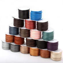 OlingArt 3mm 5M/lot Multicolor Round Leather Cord /Wire earrings Bracelet choker necklace DIY jewelry making цена