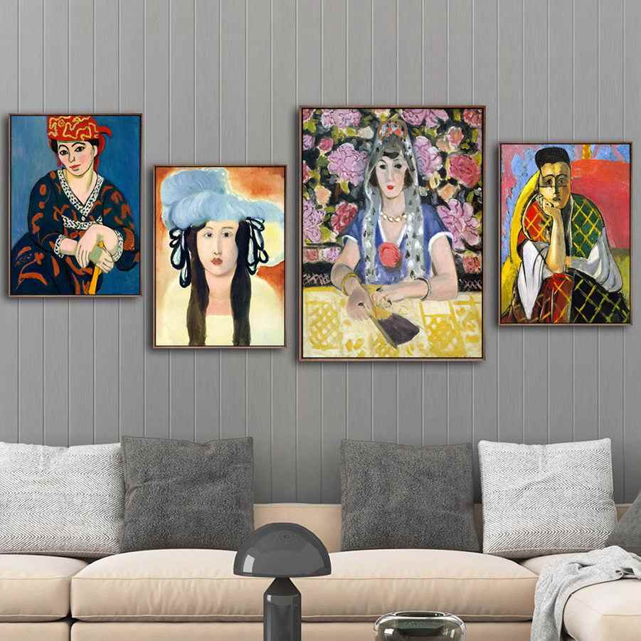Canvas Prints Modern Home Decoration Pictures Wall Art French Henri Matisse Painting Modular Nordic Style Poster For Living Room
