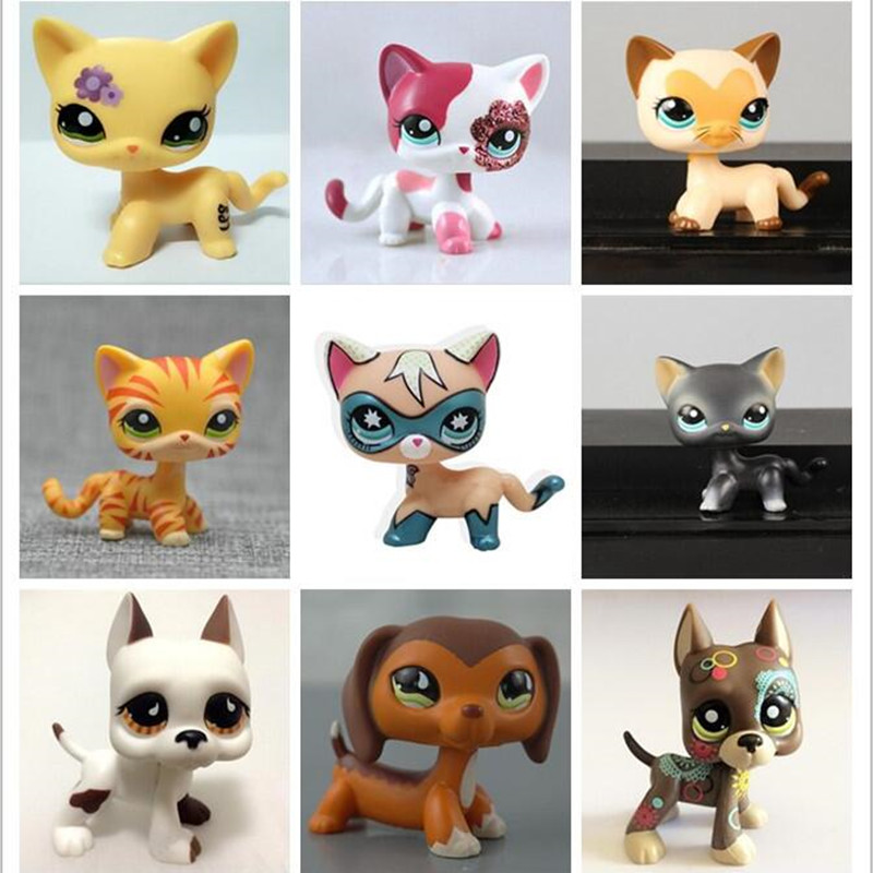 lps Pet shop Short Hair kitty and dog Collection classic animal pet cat FREE SHIPPING toys Action figures kids toys gift cute pet rare color sausage short hair dog action figure girl s collection classic anime christmas gift lps doll kids toys