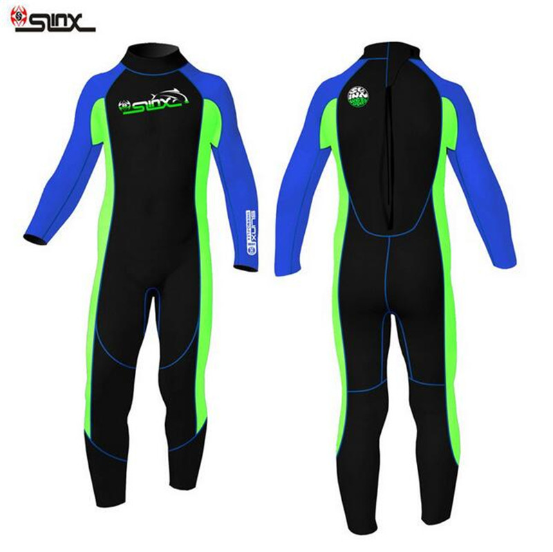 SLINX 2mm Neoprene Boys Girls Diving Suit Keep Warm Children Wetsuit One Piece Beach Swimming Snorkeling Kids Clothes men s winter warm swimwear rashguard male camouflage one piece swimsuit 3mm neoprene wetsuit man snorkeling diving suit