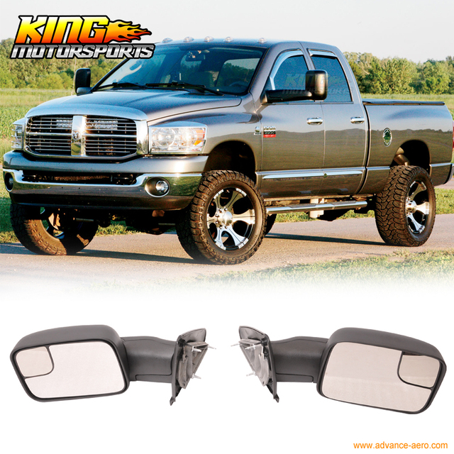 fit for 02 08 dodge ram 1500 02 09 ram 2500 3500 side view towingfit for 02 08 dodge ram 1500 02 09 ram 2500 3500 side view towing mirrors manual pair