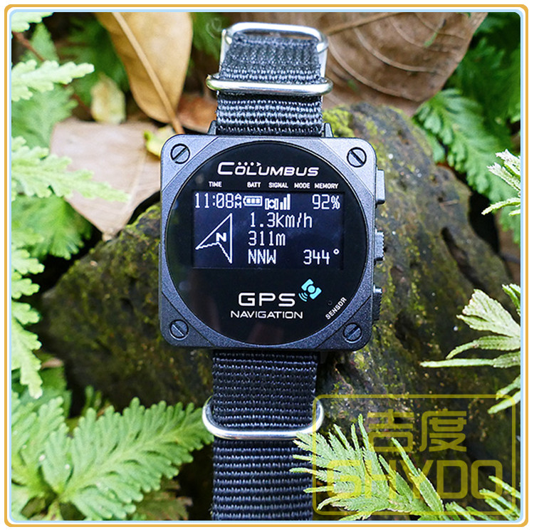 Columbus V-1000 Smart Watch Wearable GPS Data Logger OLED Screen Support OS X V10.7 Windows 7  Linux 2.6.12 Pressure Temperature