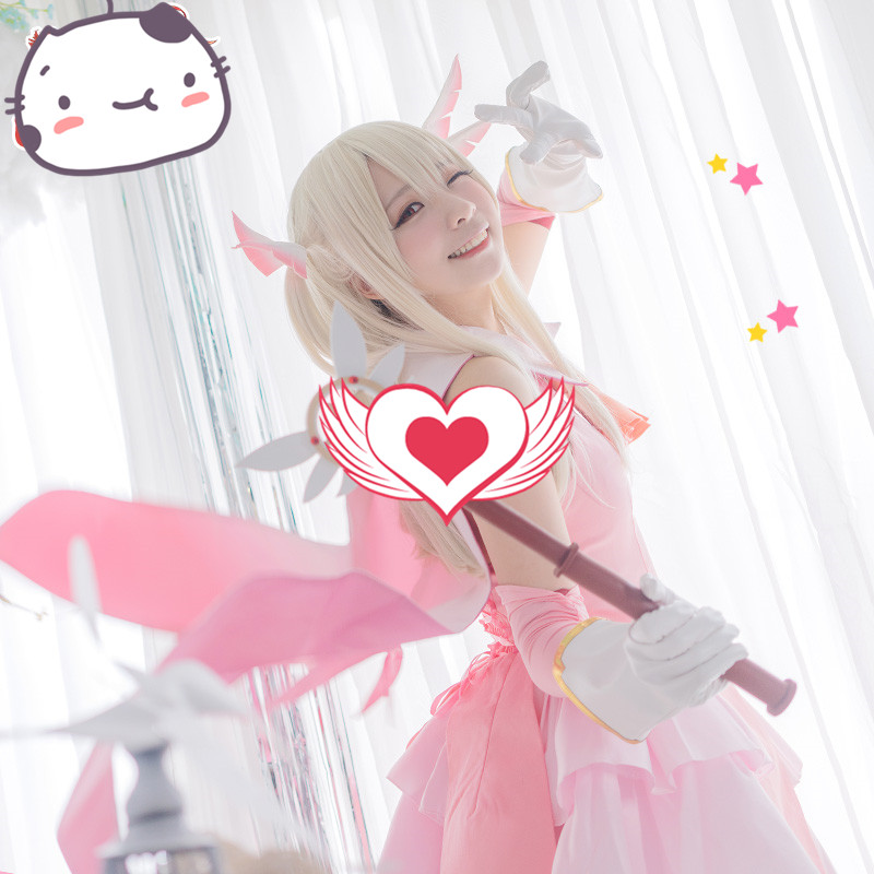 Hot Anime Fate Kaleid Liner Magic Girl Combat Clothes Illyasviel von Einzbern Cosplay Costume Halloween Carnival Cosplay