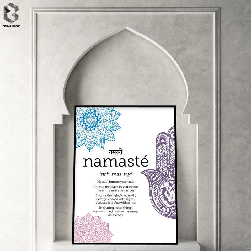 Namaste Definition Print Namaste Poster Zen Yoga Canvas Painting Yoga Wall Art Meditation Printa for Home Decoration