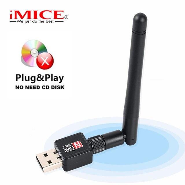 מיני USB Wifi מתאם 150 Mbps 2dB WiFi Dongle MT7601 Wi-fi מקלט כרטיס רשת אלחוטי 802.11b/n/g אנטנת wi-fi Ethernet