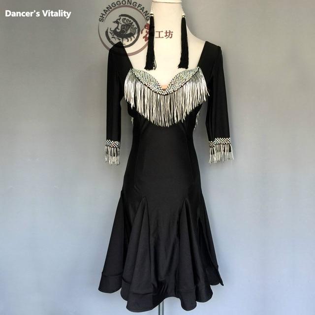 6f5ac87b7c26 Dance Dress Women Adults Children Professional Latin Dress Samba Latin  Salsa Dresses Dance Costumes Clothes Dancing