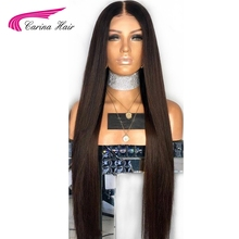 Carina Full Lace Wigs with Pre Plucked Hairline Brazilian Straight Remy Human Hair Lace Wigs with