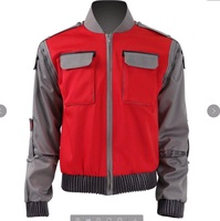 Back to the Future Martin Seamus Marty McFly Sr. Jacket Outfit Movie Cosplay Costume T006