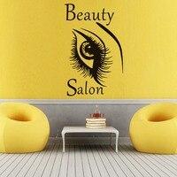 Moda Güzel Büyük Göz Duvar Sticker Güzellik Kadın Kaş Salon Diy Ev Dekorasyonu Vinil Kendinden Yapışkanlı Duvar Çıkartma