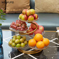 Fruit plate living room creative home dried fruit candy dish net red multi layer grid fruit basket dessert table display stand
