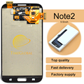 2pcs Free Shipping + 100% tested original For Samsung Galaxy note 2 N7100 LCD Digitizer Assembly - White/Grey