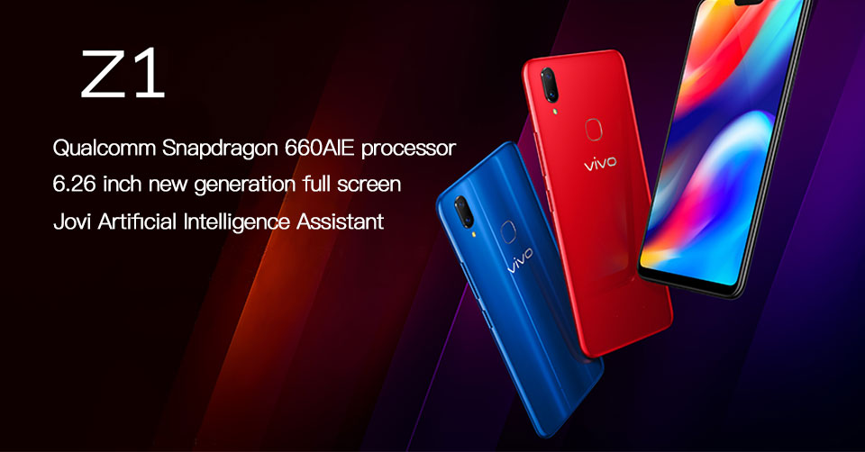 Original Vivo Z1 6GB RAM 64GB/128GB ROM 4G LTE Mobile Phone Snapdragon  660AIE Octa Core 6 257 Full Screen 13 0MP Face ID Smart Cell Phone