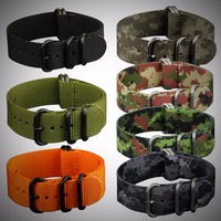 INFANTRY 22mm Men High Quality Stainless Steel Buckle Watchband Sport Military Army Nylon Diver Watch Nato