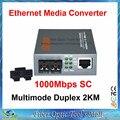 Gigabit Волоконно-Оптический Media Converter 1000 Мбит/С Многорежимный Дуплекс SC Порт 2 КМ Внешнего Источника Питания