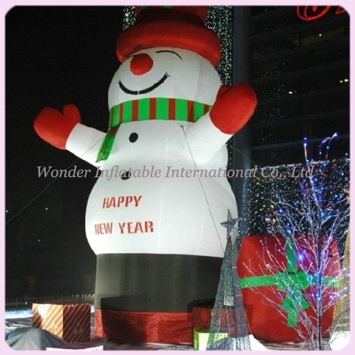Outdoor 20ft giant christmas inflatable snowman for christmas decoration
