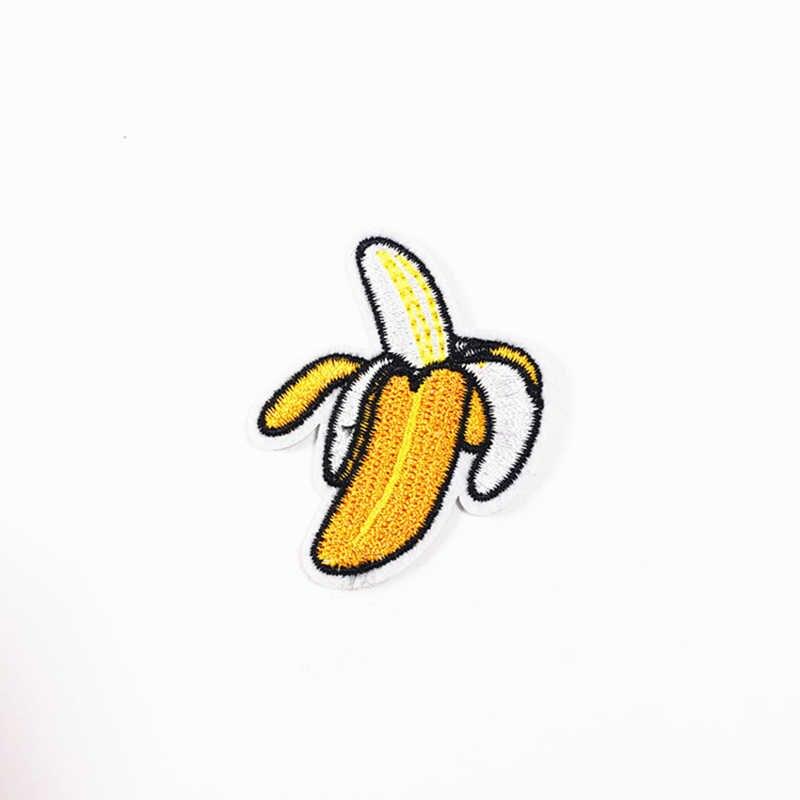 Горячая продажа 1 шт. 54x43 мм фрукт банан вышитые железные патчи для одежды DIY аксессуары для одежды нашивка-аппликация для одежды Аппликации