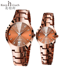 Keep in touch Lovers Watch Luminescent Calendar Cou