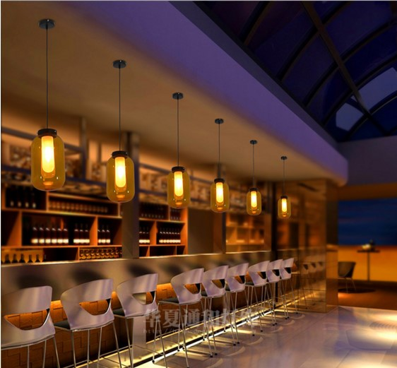 Modern Simple Glass Loft Style <font><b>LED</b></font> Pendant <font><b>Light</b></font> Fixtures Indoor Lighting <font><b>Bottle</b></font> Shaded Lamparas Colgantes