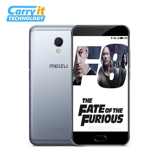 Оригинальный Meizu MX6 32GB 3GB Global ROM OTA Мобильный телефон Android Сотовый Дека Ядро 1920x1080P 5,5 «12MP отпечатков пальцев M685Q