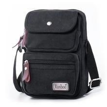 Mens Multi-functional Canvas Cross Body Travel Phone Purse Shoulder Bag Lightweight Messenger Pouch Fanny Pack iPad Mini