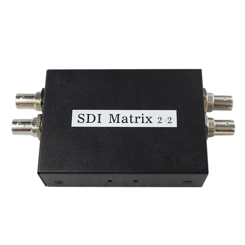 2x2 SDI Matrix Switcher Switch 2 way 3G SDI Sources to two Output With Power Adapter