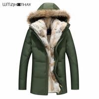 Warm Winter Coat Duck Jacket for Women Men Big Fur Collar Parkas Hooded Coat Overcoat Thicken Long Parka Plus Size S 5XL