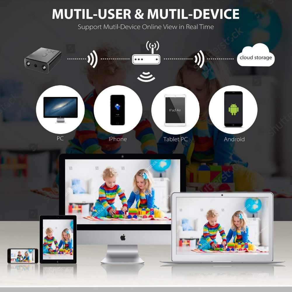 Новейший HD1080P экшн-камера с Wi-Fi подключением Камера инфракрасный Ночное видение камера видеонаблюдения IP/камера AP поддержка функции распознавания движения hiddden TF карты