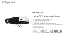 Free Shipping DAHUA CCTV Security IP Camera 2MP WDR Box Network Camera POE H.265 H.264 without Logo IPC-HF8231F
