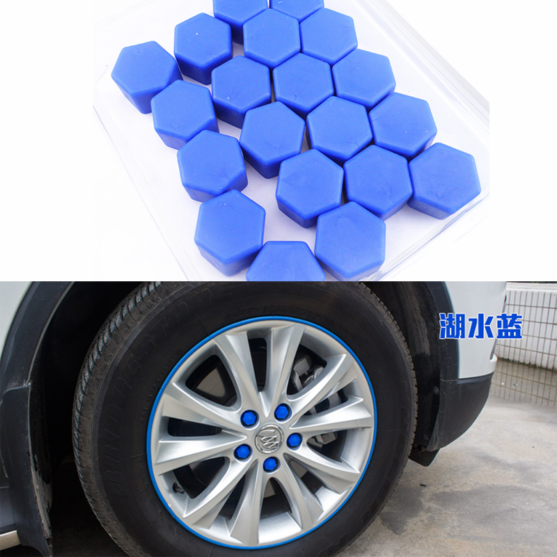 20pcs <font><b>Car</b></font> Styling Auto Motorcycle <font><b>Wheel</b></font> <font><b>Nuts</b></font> <font><b>Silicone</b></font> Lug <font><b>Nut</b></font> Caps <font><b>Covers</b></font> Protective Bolt Caps Hub Screw Protector 19mm image