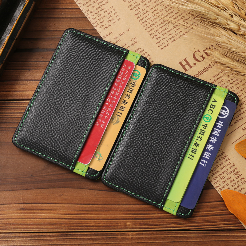 2018 wallet business card ID Holder pu leather bus card organizer ...