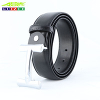 GUIZUE 2018 New Arrival Letter H Belt Men Real Genuine Leather High Quality Smooth Buckle Strap