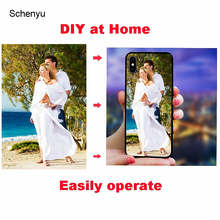 DIY Phone Case for iphone 7 plus x xs Max Xr 6 6s 8 plus DIY at home Design Photo Tempered glass back Cover Case for iphone x(China)